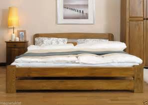 Details about new solid wooden king size bed frame quot one quot pine walnut