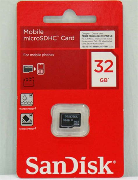 Slot Microsd Card Up To 32gb sandisk 32gb microsd card micro sd msd sealed pack 5yr warranty 32 gb class 4