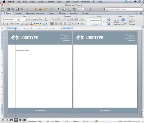 design a header in word convert your design into a microsoft word letterhead