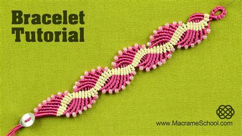 Macrame School - wavy lagoon macram 233 bracelet tutorial macrame school