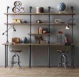 Diy Industrial Desk Industrial Pipe Desk With Shelving