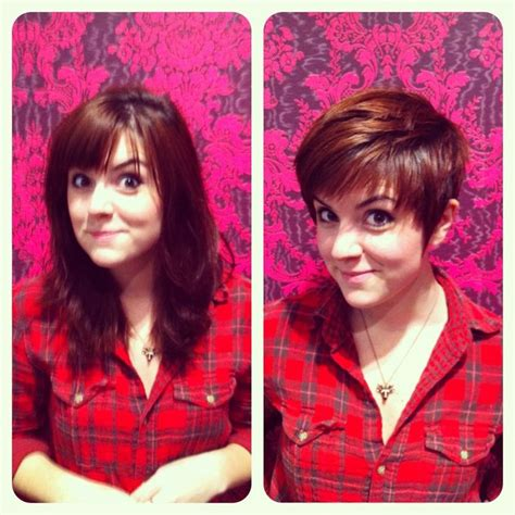 before and after long to short hair before and after long to short cut hair gt short cuts