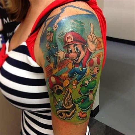 small mario tattoos 17 best images about on mario