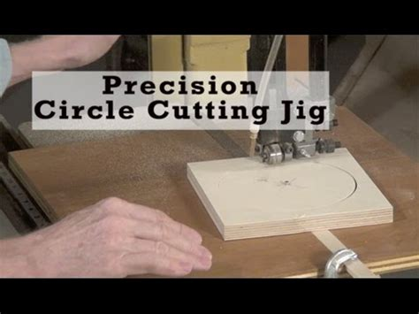 precision circle cutting bandsaw jig youtube