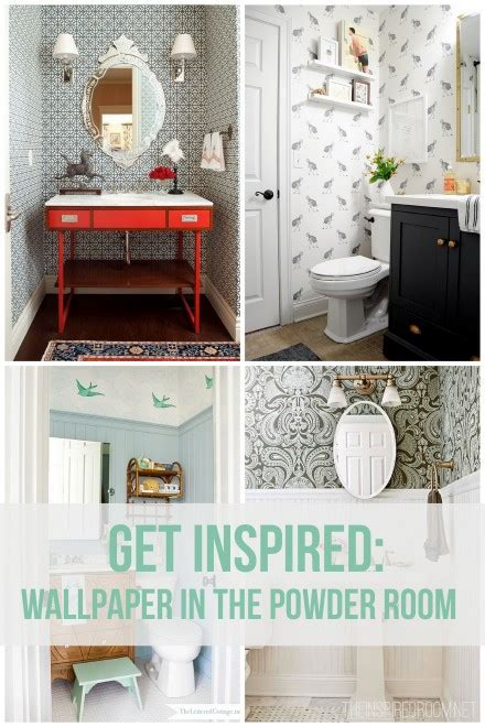 inspiration ideas wallpaper for the powder room the inspired room