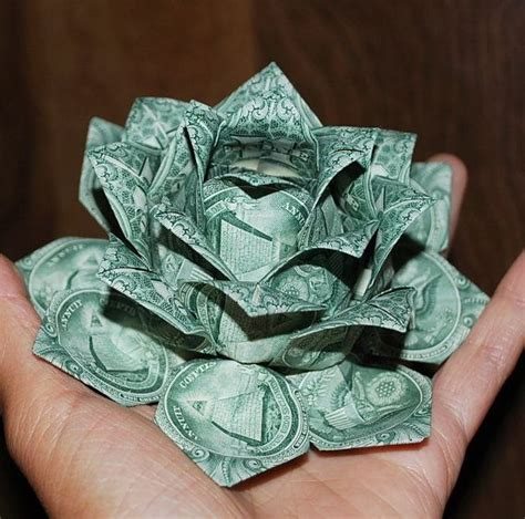 Origami Flower From Dollar Bill - 25 unique money origami ideas on dollar