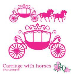 princess carriage template svg dxf png princess carriage cutting file digital