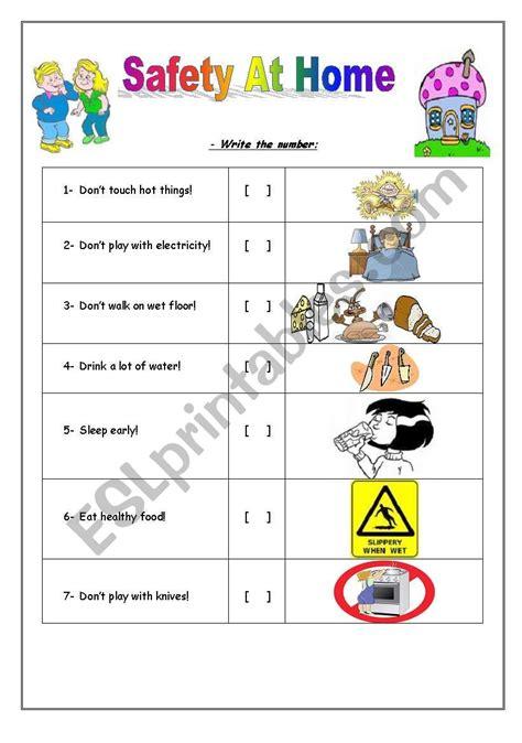 safety at home esl worksheet by rosi noor