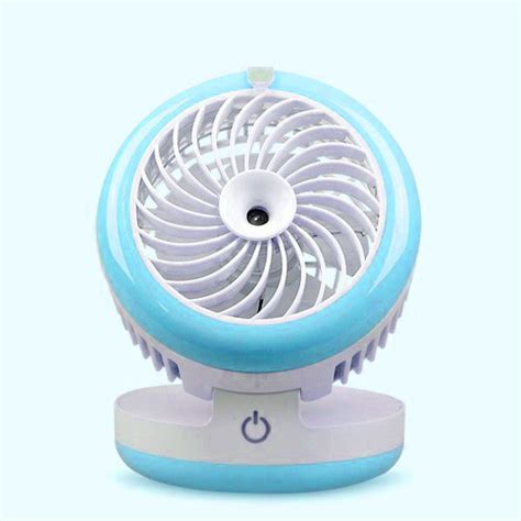 Kipas Humidifier kipas angin usb portable spray humidifier wy f4 blue jakartanotebook