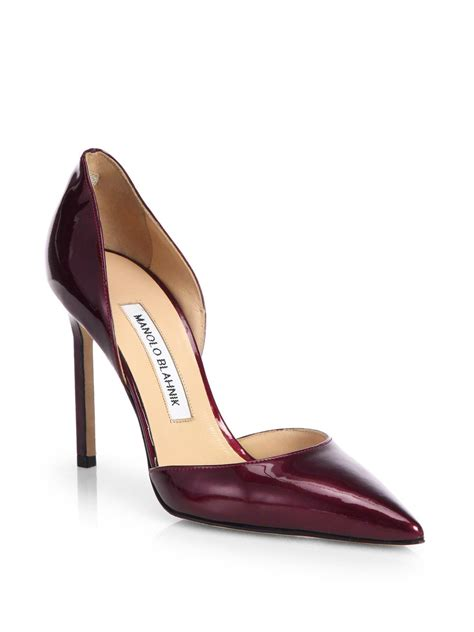 Manolo Blahnik Patent Dorsay by Manolo Blahnik Tayler Patent Leather Dorsay Pumps In
