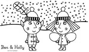 ben holly kingdom snow coloring pages coloring pages