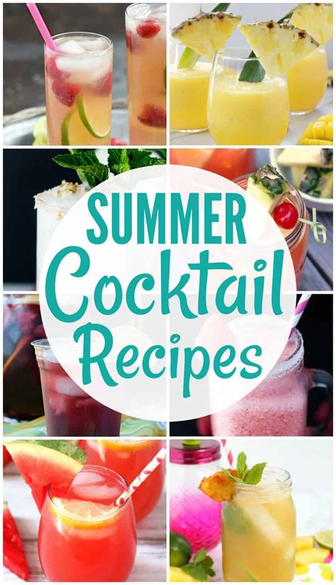 summer cocktail recipes 28 40 easy summer cocktail recipes summer cocktails