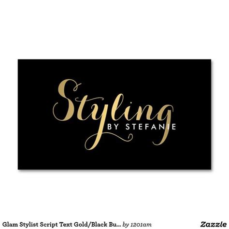 Calligraphy Business Card Template by Black Business Card Stylists And Fashion On