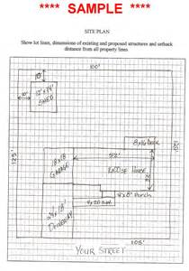 How To Draw A Site Plan For A Building Permit Zoning Amp Codes West Manchester Township