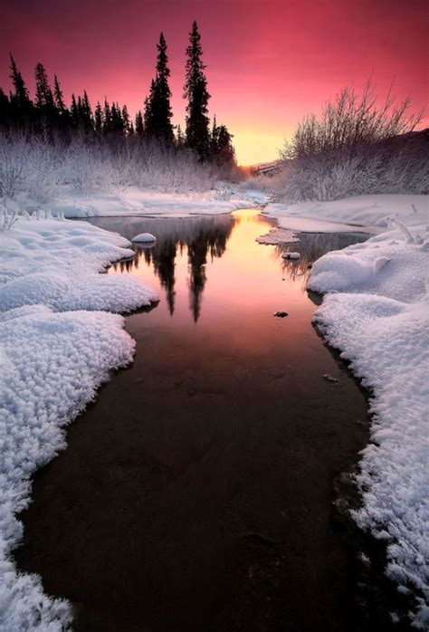beautiful alaska winter sunset i hats winter but there is nothing more
