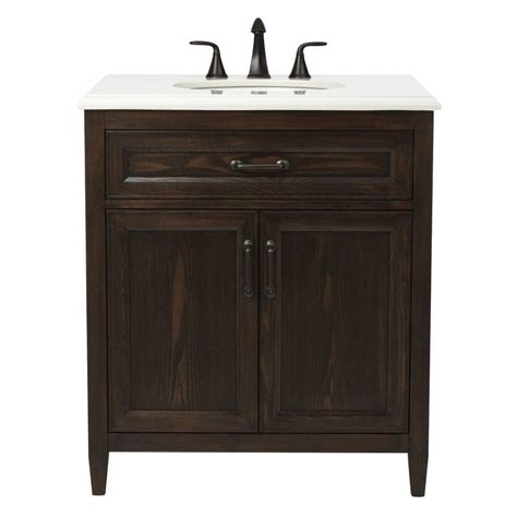 home depot home decorators vanity home decorators collection walden 31 in w vanity in mocha