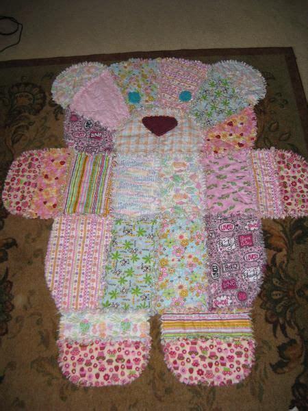 Teddy Bear Rag Quilt Pattern Easy Video Instructions
