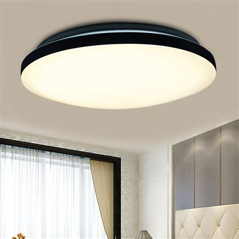 Led Kitchen Ceiling Lighting Fixtures 24w Led Pendant Ceiling Light Flush Mount Fixture Chandelier Kitchen L 3modes Ebay