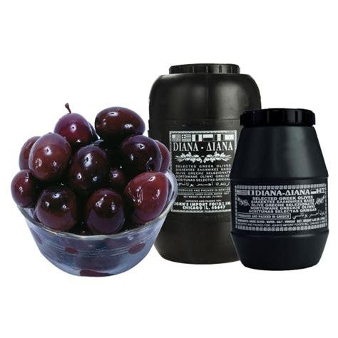 Olive Black T3010 2 black olives in brine food imports