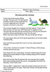 primaryleap co uk the hare and the tortoise worksheet