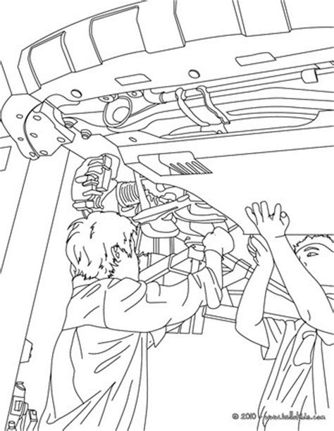car garage coloring page garage mechanics repairing a car coloring pages