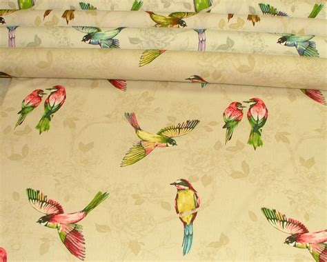 upholstery fabric with birds prestigious textiles quot paradiso quot parrot bird curtain