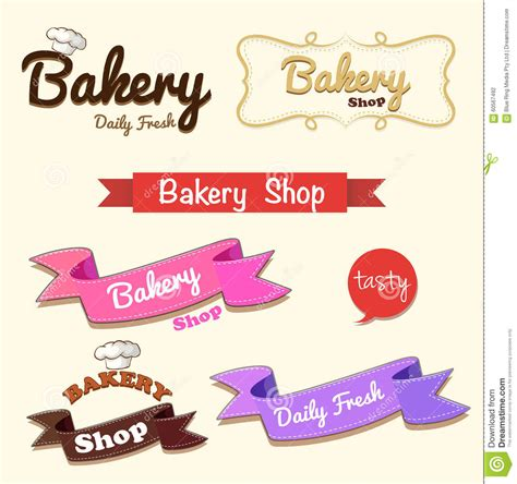 design banner bakery different design of bakery banner stock vector