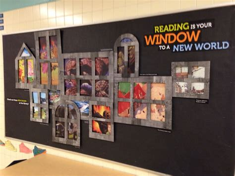 reading is your window to a new world library displays