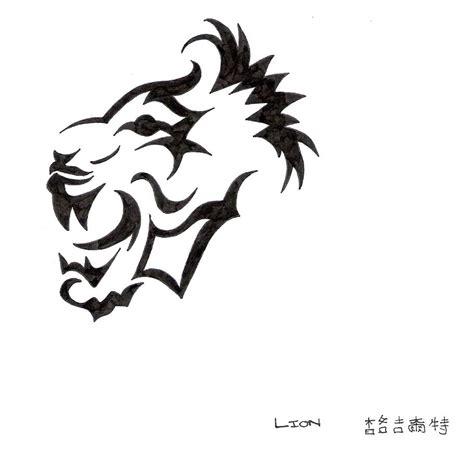 tattoo lion tribal mountain tribal