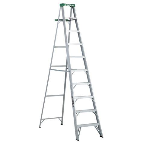 10 Ft Featherlite 2410 Aluminum Step Ladder Type Ii 225