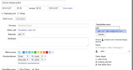 membuat jadwal kegiatan harian membuat jadwal harian menggunakan google calendar arif