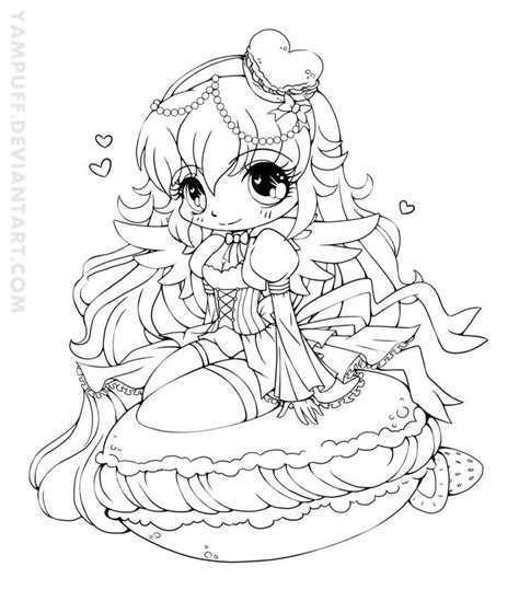 chibi coloring pages for adults yampuff food chibi girls coloring pages crafts