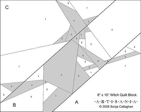 free patterns paper piecing free witch pattern artisania