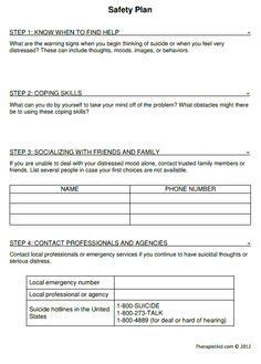 Treatment Plan Forms Mental Health Printable Smart Goals Google Search Msw Pinterest Patient Safety Plan Template