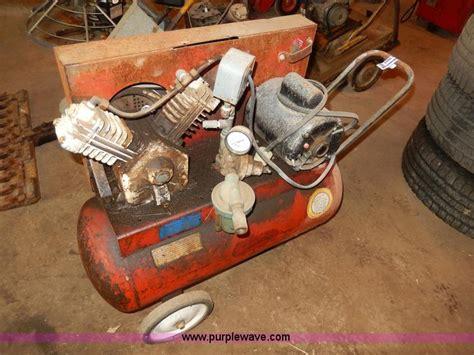 sanborn 15 gallon air compressor no reserve auction on thursday july 18 2013