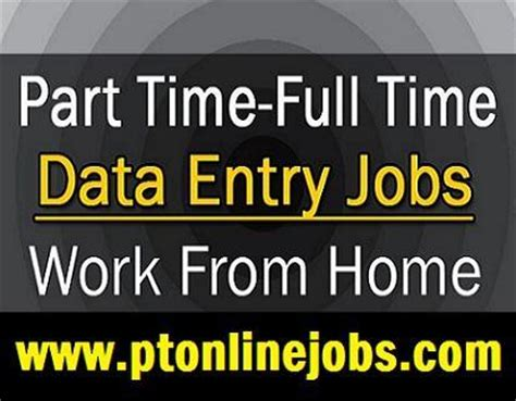 evening part time data entry for you