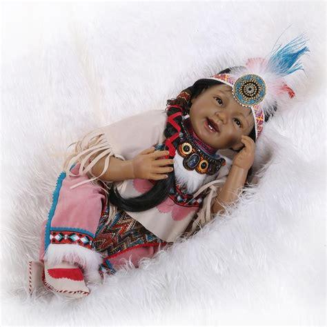 Handmade Indian Dolls - handmade american indian black reborn dolls