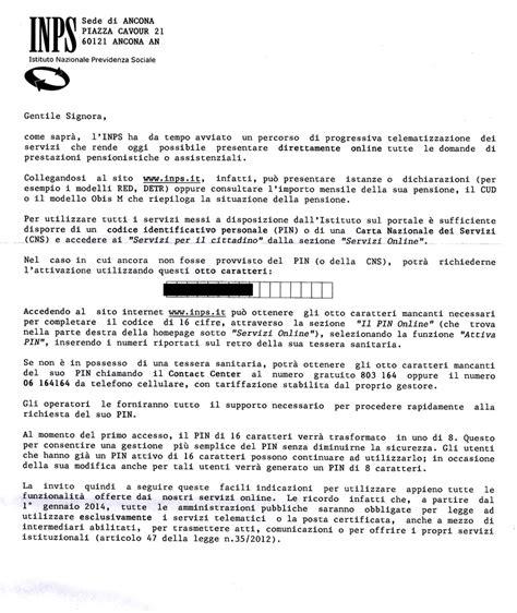 lettere inps la lettera dell inps ai pensionati pagina1 senigallia