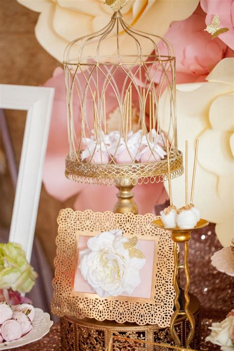 Gold Baby Shower Decorations by Kara S Ideas Pink Gold Butterfly Baby Shower