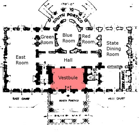 Floor Plan White House Single Word Requests What Is The Small Room Most