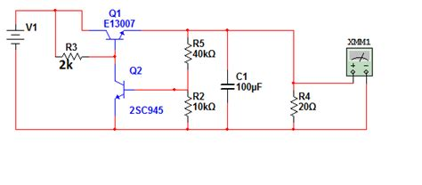 why does transistor get voltage regulator driving a power transistor with 2sc945 electrical engineering stack exchange