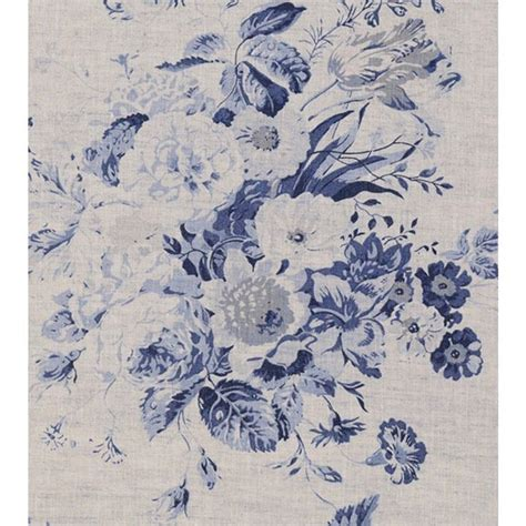 natural linen window treatments and linen fabric on pinterest beautiful blue floral print on natural linen fabric from