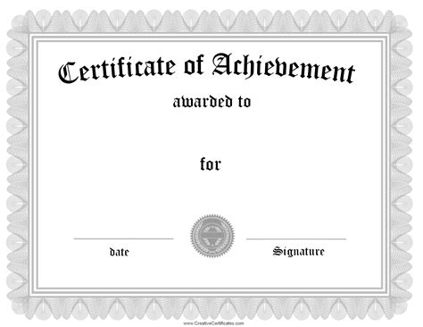 blank award certificate templates word certificate templates without borders blank certificates