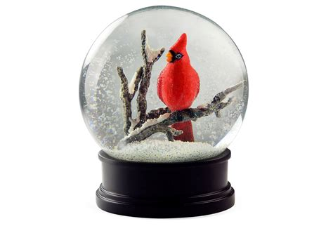 5 quot winter cardinal snow globe snow from one kings lane epic