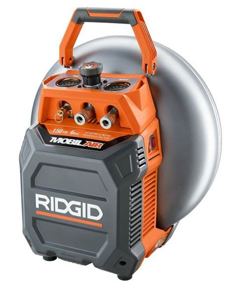 new ridgid of60150vp 6 gallon portable verticle pancake air compressor ebay