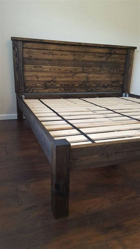 homemade bed frames best 10 king bed frame ideas on pinterest diy king bed