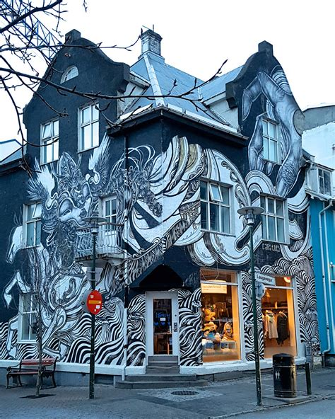 Paris Wall Murals street art in iceland walking through the streets of