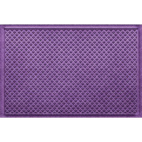Purple Doormat by Aqua Shield Gems Purple 24 In X 36 In Polypropylene Door