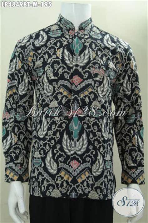 Koko Batik Elegan Mickot Hitam baju hem lengan panjang dasar hitam elegan busana batik