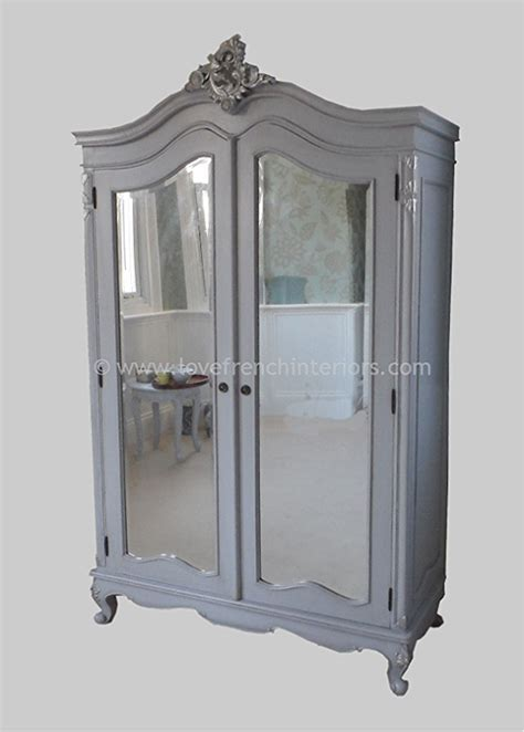 mirror armoire wardrobe louis bespoke mirrored french armoire wardrobe